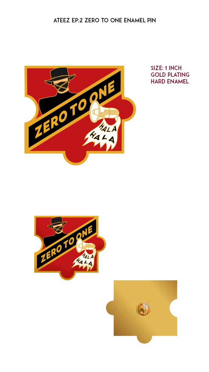 Ateez Treasure Episode 2 - Zero To One Enamel Pin