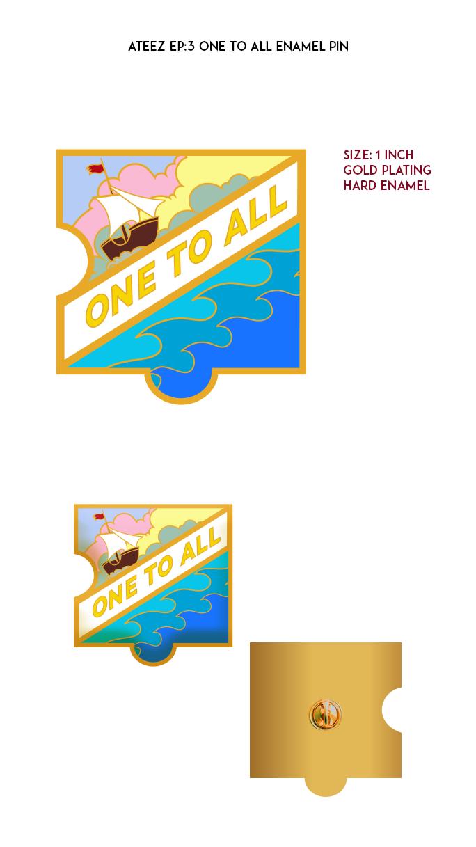 Ateez Treasure Episode 3 - One To All Enamel Pin