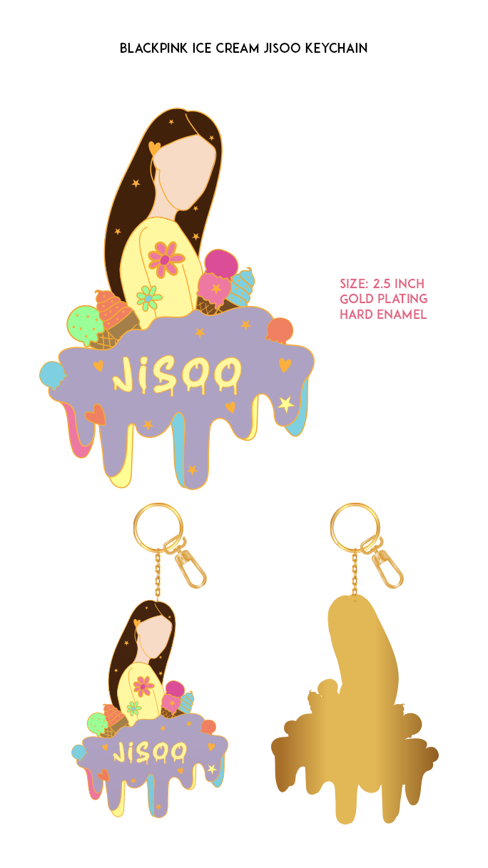 Blackpink Ice-Cream Jisoo Enamel Pin