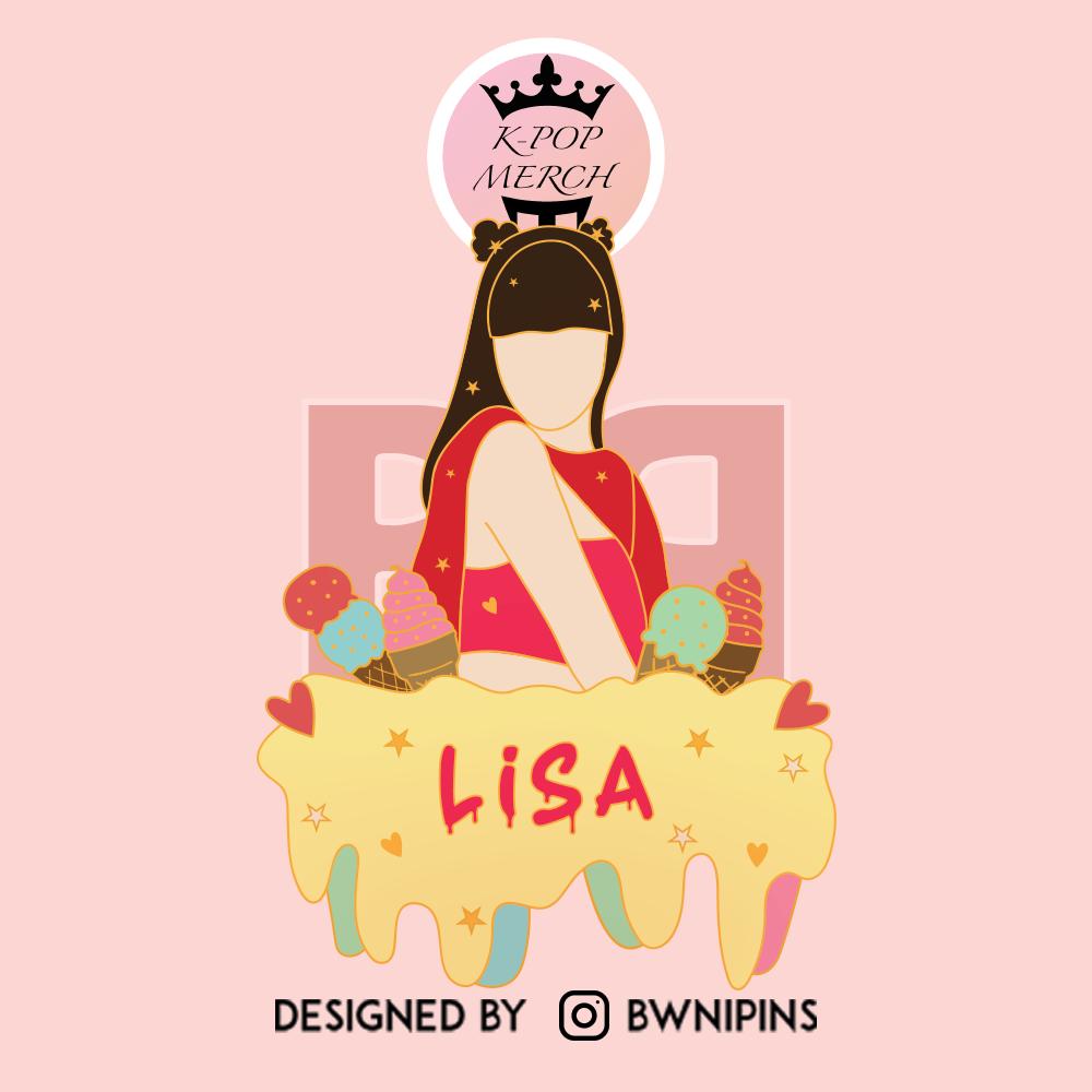Blackpink Ice-Cream Lisa Enamel Pin