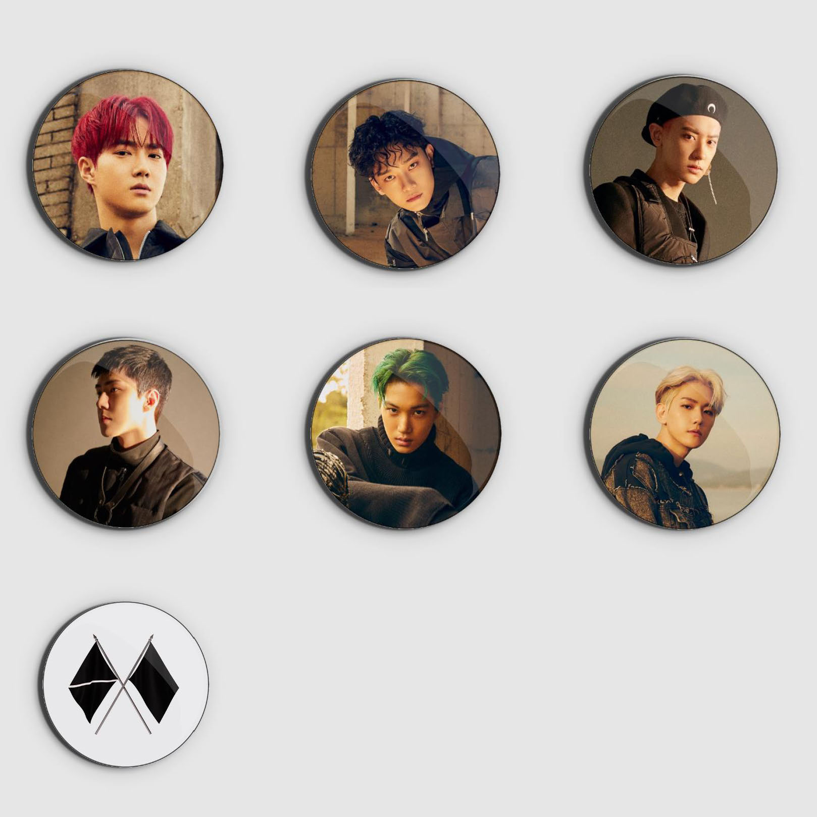 Exo Obsession Badge Set Ver 1