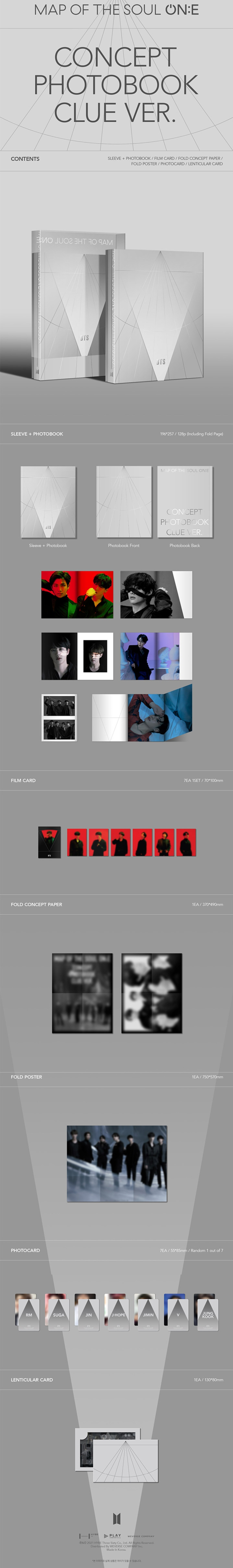 BTS Map of the Soul ON:E Concept Photobook Clue Ver