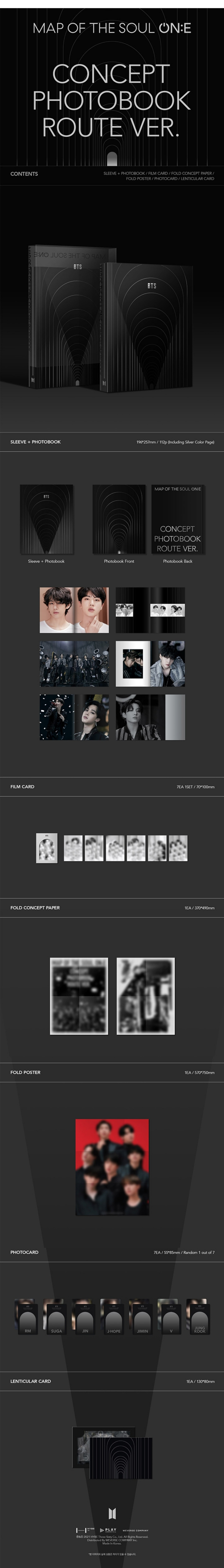 BTS Map of the Soul ON:E Concept Photobook Route Ver