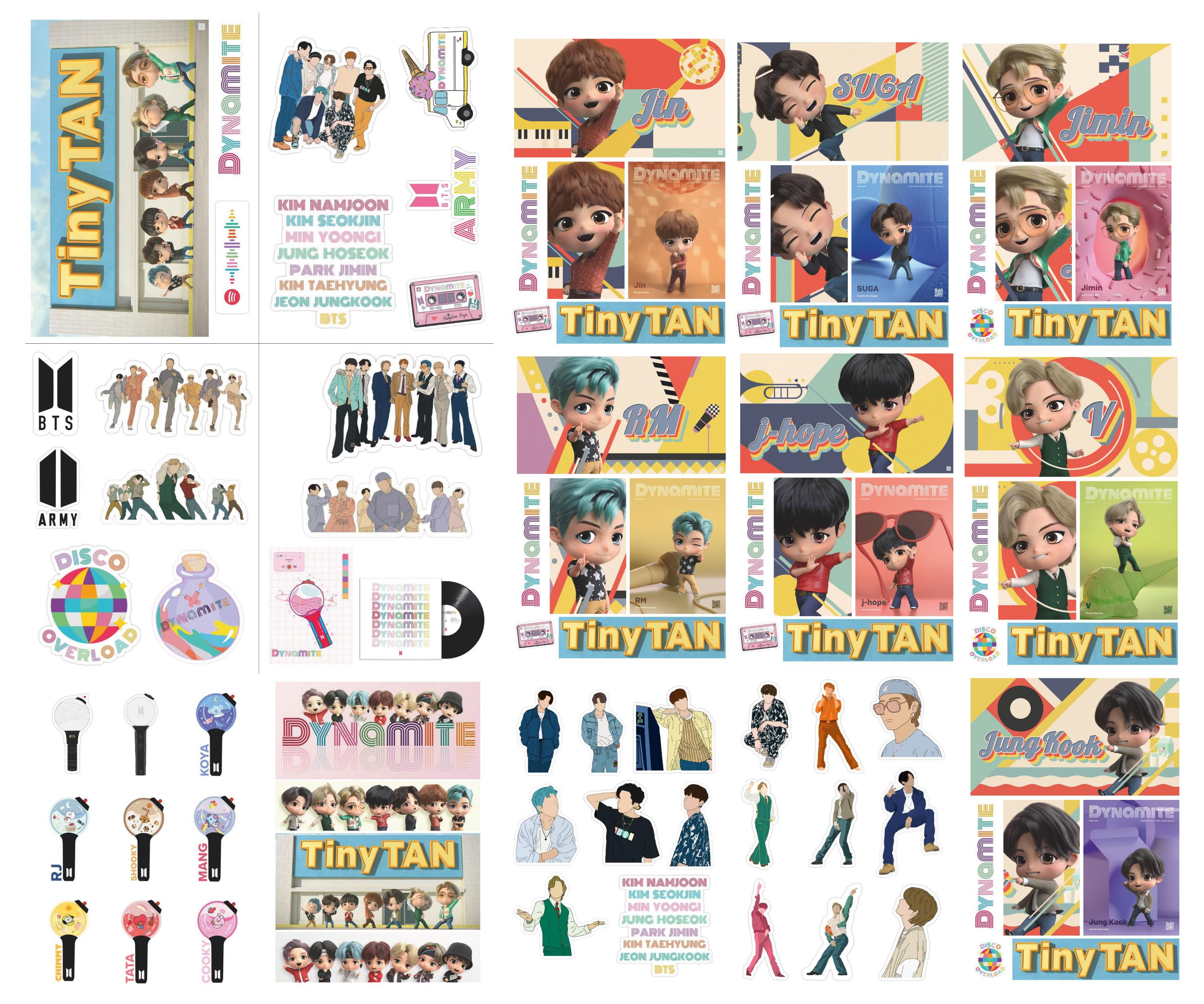 BTS Dynamite Tiny Tan Sticker collection
